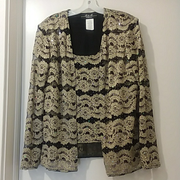 R & M COLLECTION Tops - R&M COLLECTION blouse with jacket 1piece